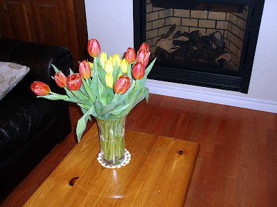 Two dozen Tulips barely fit in my vase.