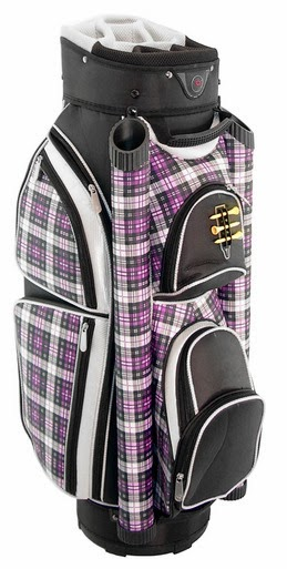 http://www.pinkgolftees.com/ladies-golf-bags/hunter-golf-eclipse-purple-plaid-ladies-golf-bag.html