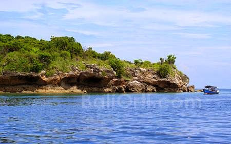 Menjangan Island, a small and beautiful island