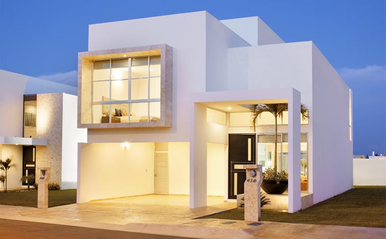 Fachadas minimalistas fachada minimalista modelo paris en for Fachadas de casas modernas minimalistas