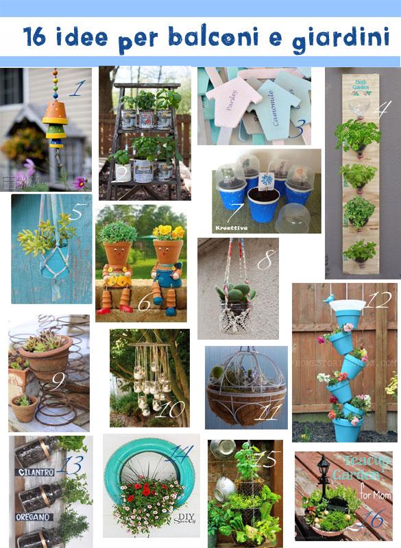 16 idee per balconi e giardini kreattivablog - Idee piante da giardino ...