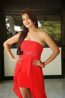 Actress Ashwini Latest  Pictures in Short Dress at Vinodam 100 Movie Press Meet  029