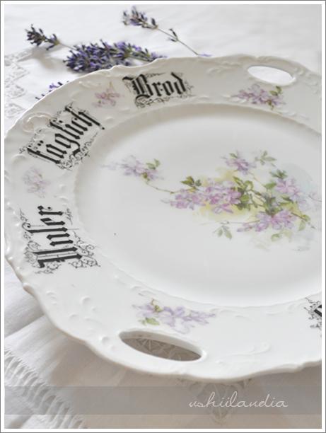 talerz z napisami stara porcelana niemiecka