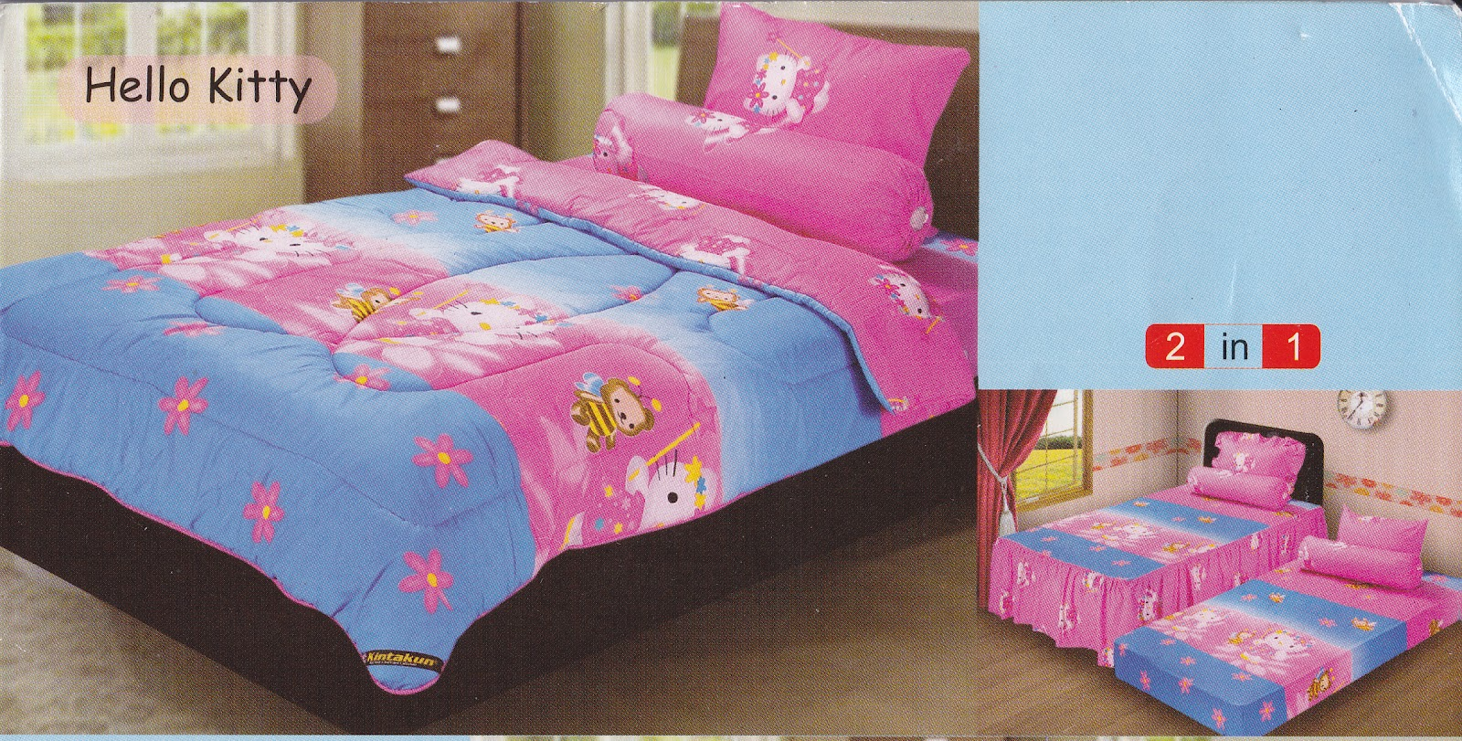 sprei bonita hello kitty play : Sprei Kintakun Single HELLO KITTY : Toko Online Bed Cover Murah Jual ...