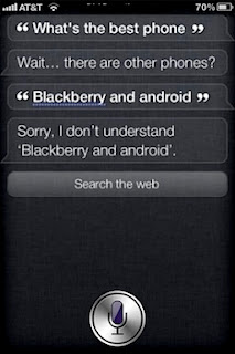 Apple's iPhone voice assistant Siri no longer says Nokia's Lumia 900 is 'best cell phone'.