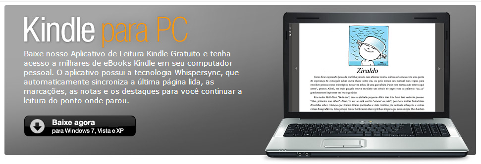 Leitor KINDLE para PC da AMAZON