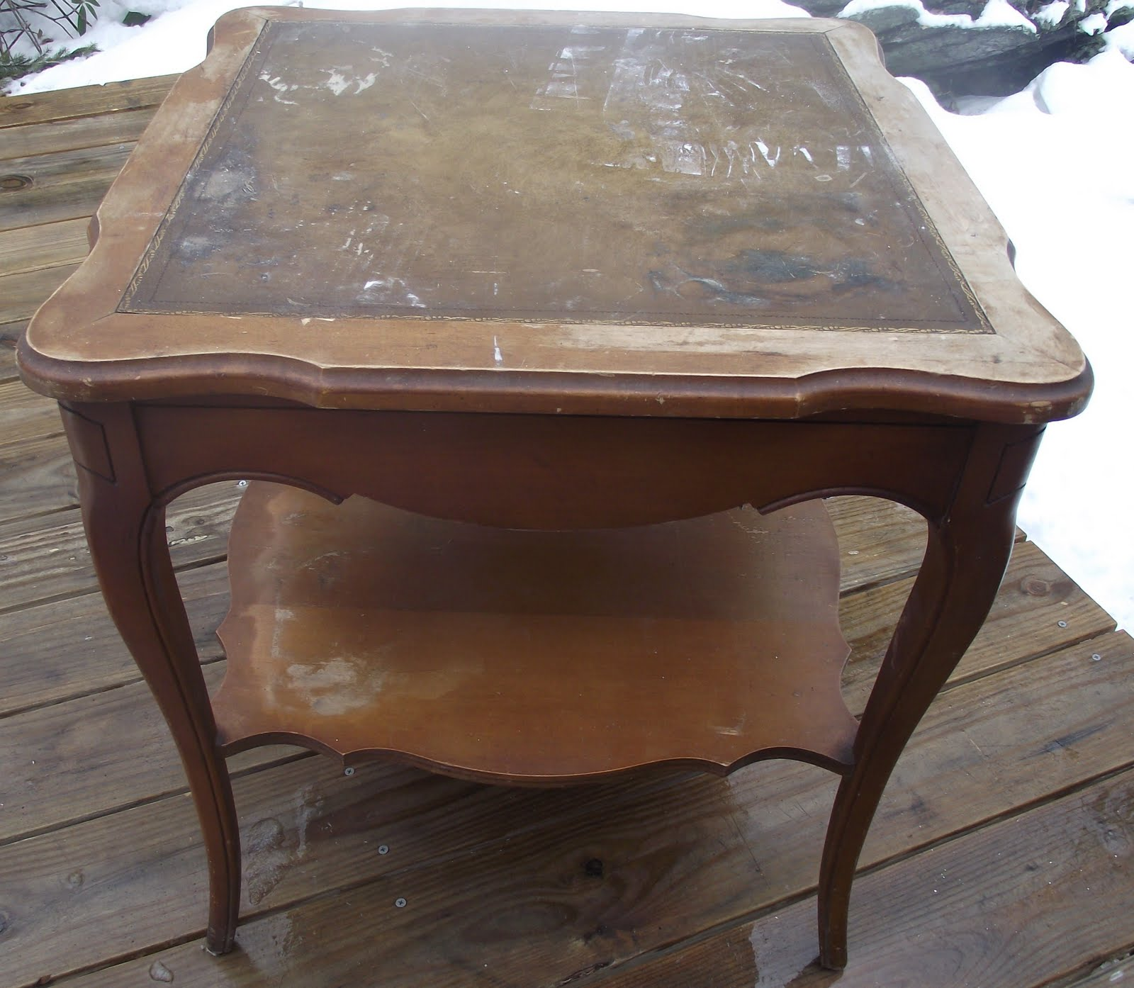 French Country Distressed Coffee Table: Serendipity Chic Design: French Country Side Table