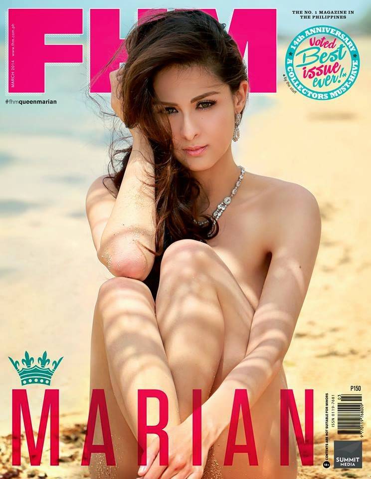 Marian Rivera with the cover photo of FHM