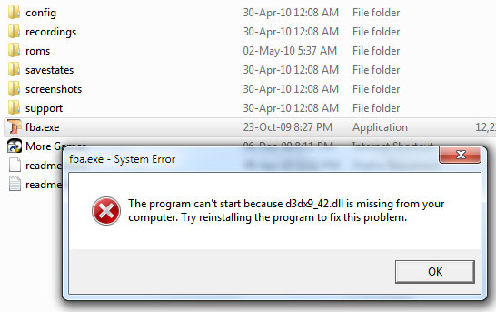Fix DLL Files missing error
