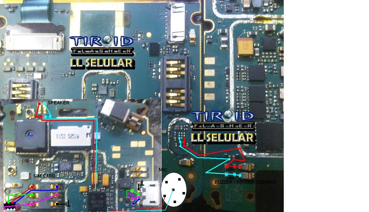 JALUR SPEAKER MIC RINGER SIMCARD 9100 9105