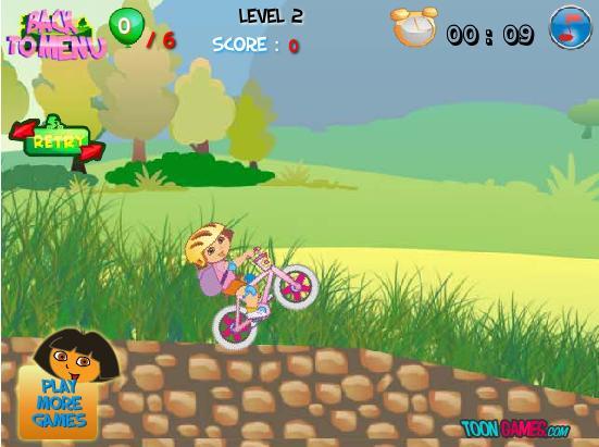 juego Dora bicicleta