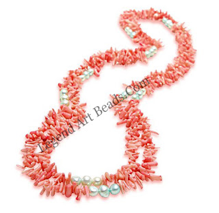 Coral jewelry is featured in a variety of styles