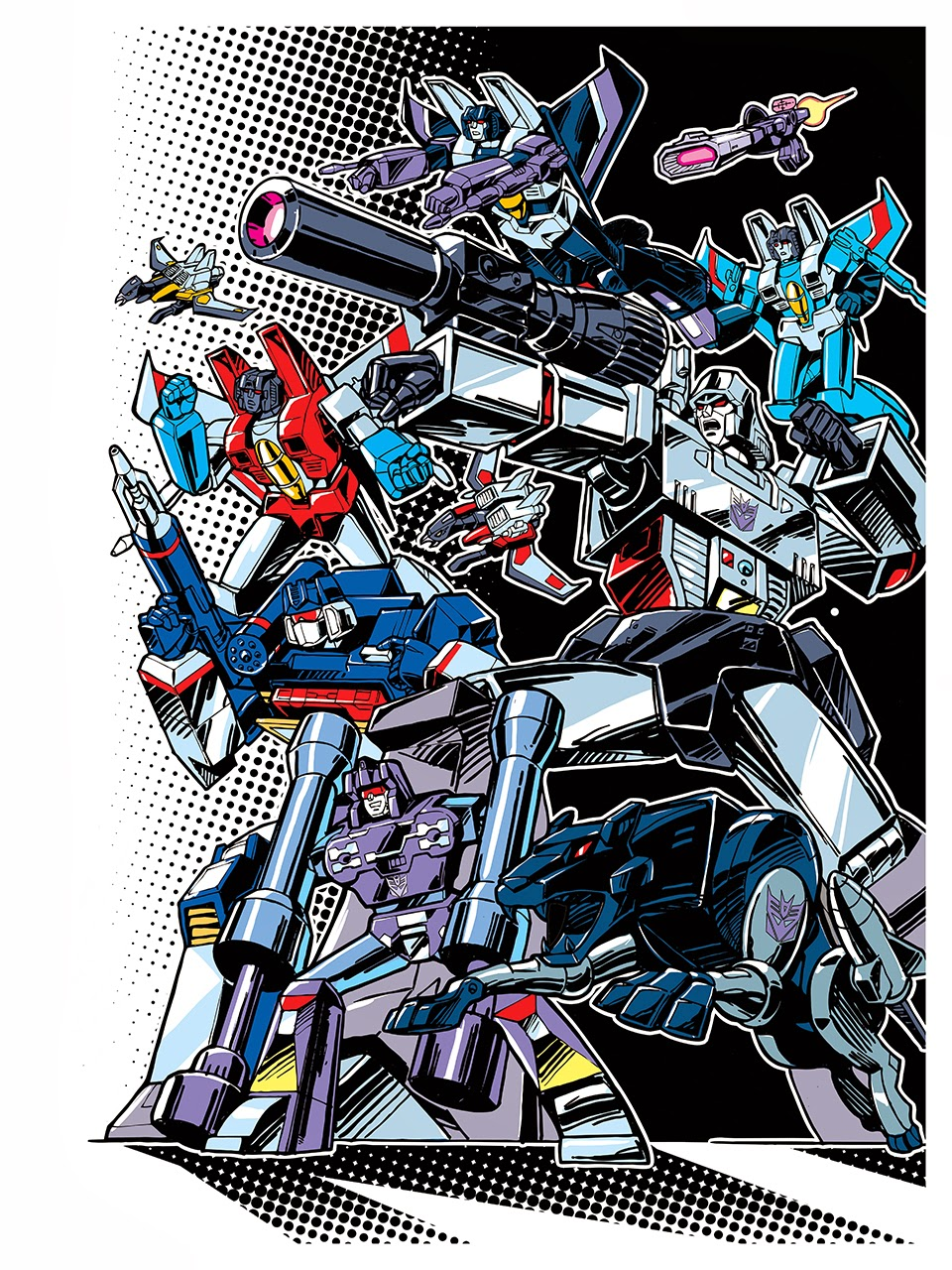 """Decepticons"" Transformers 30th Anniversary Giclee Print by Guido Guidi"