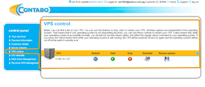 vps control feature from contabo