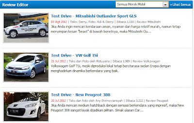 Beberapa List Review Mobil di CarMall.Com