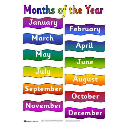 Months of the Year Clip Art for Worksheets ~ Kindergarten Worksheet ...