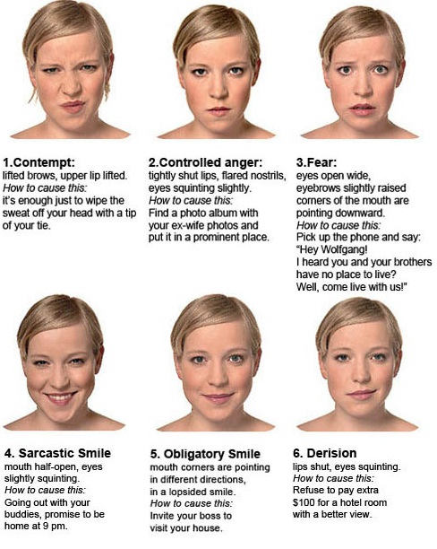 Smiling facial body language