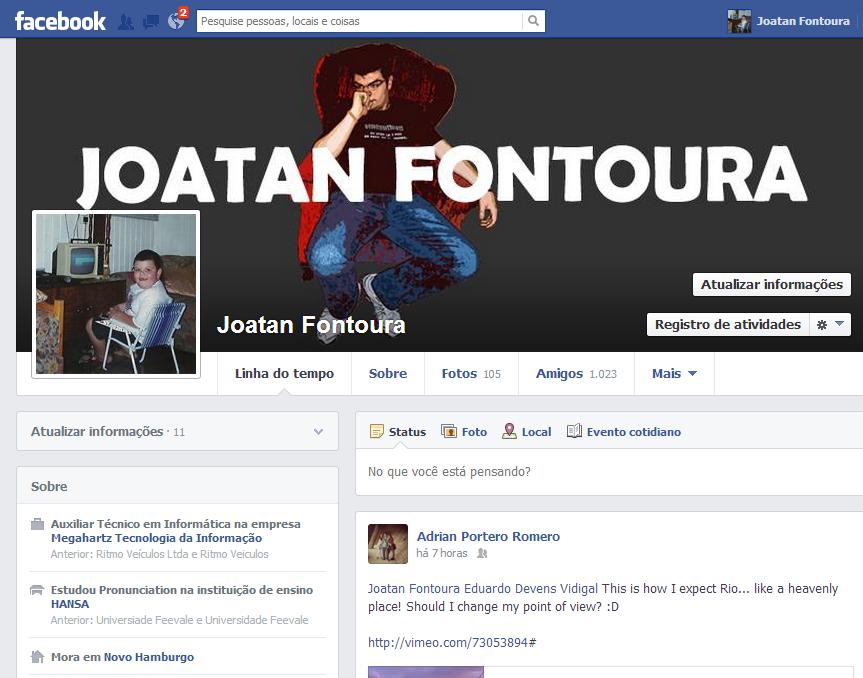 facebook foto perfil crianca joatan fontoura 2013
