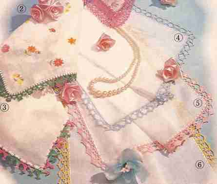 6 Pañuelos elegantisimos a Crochet