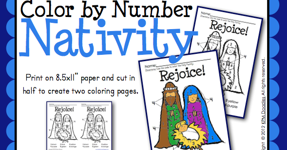 Classroom Freebies Too Nativity Color By Number