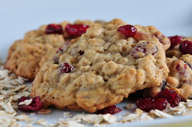 Oatmeal Cranberry White Chocolate Walnut Cookies