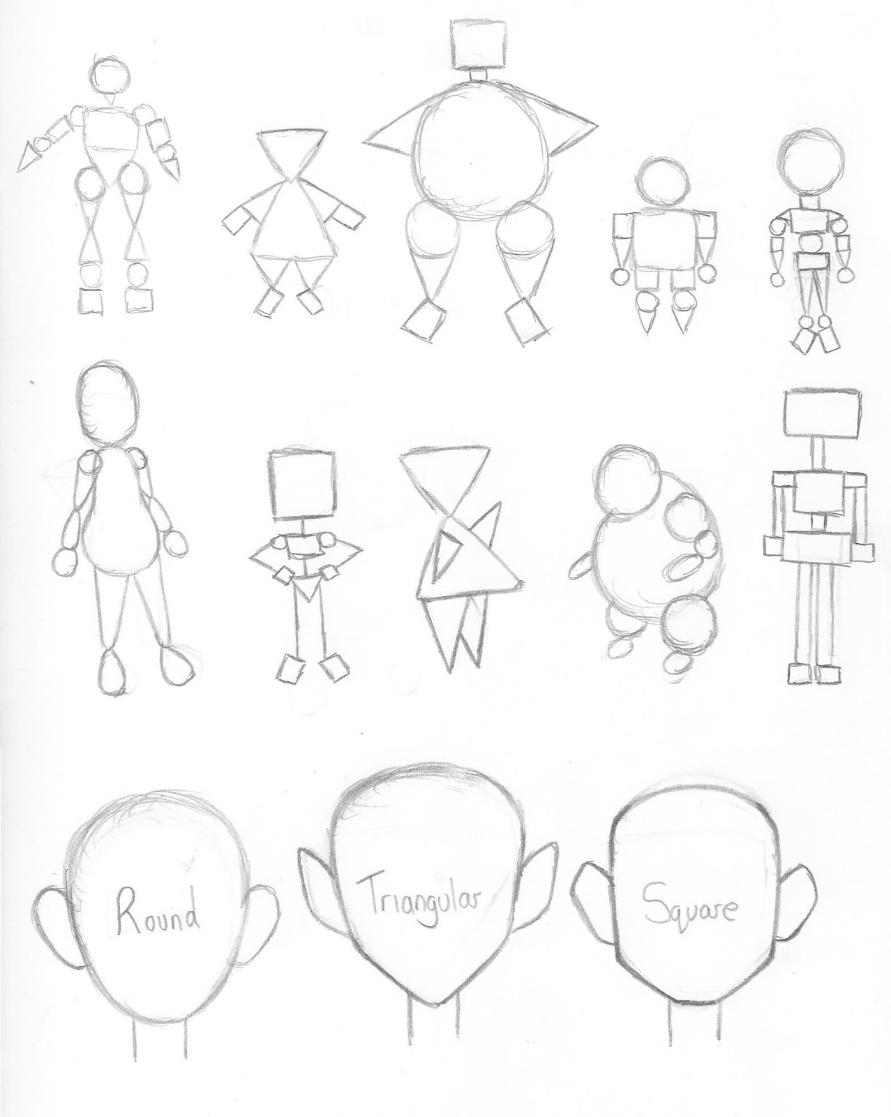 Character Design Shape Theory : Harriet wilson s studio work practising with character