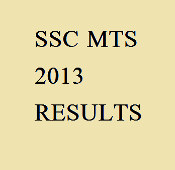 ssc mts results 2013