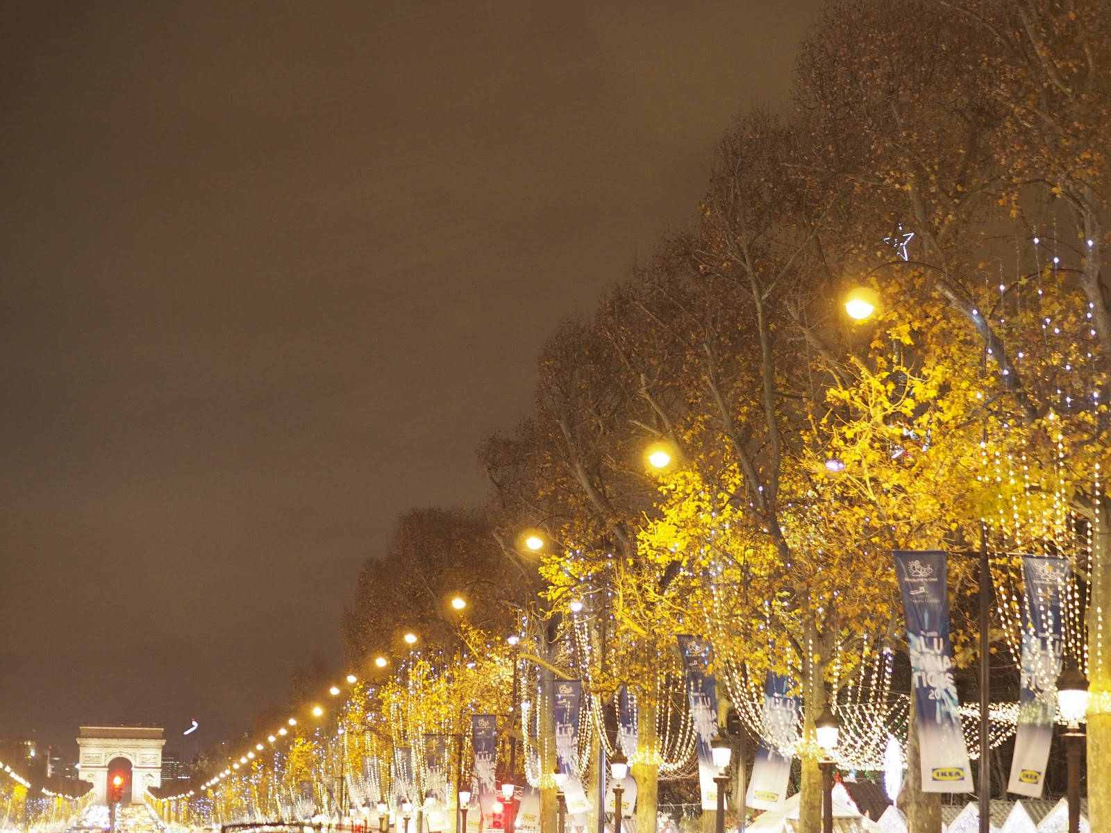 Paris Christmas Market at Night