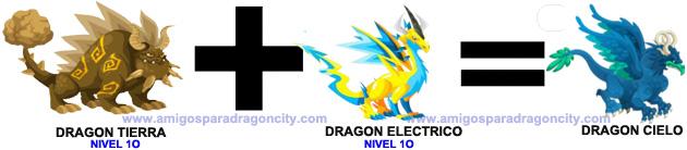 como sacar el dragon cielo en dragon city combinacion 2
