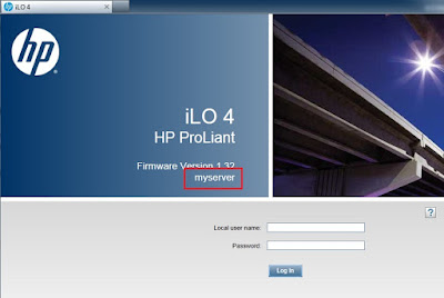 how to change ilo hostname hp proliant