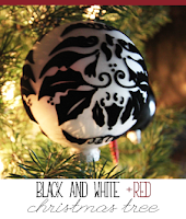 Black and White + Red Christmas Tree