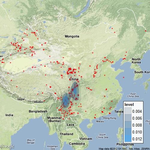 用ggmap包进行地震数据的可视化