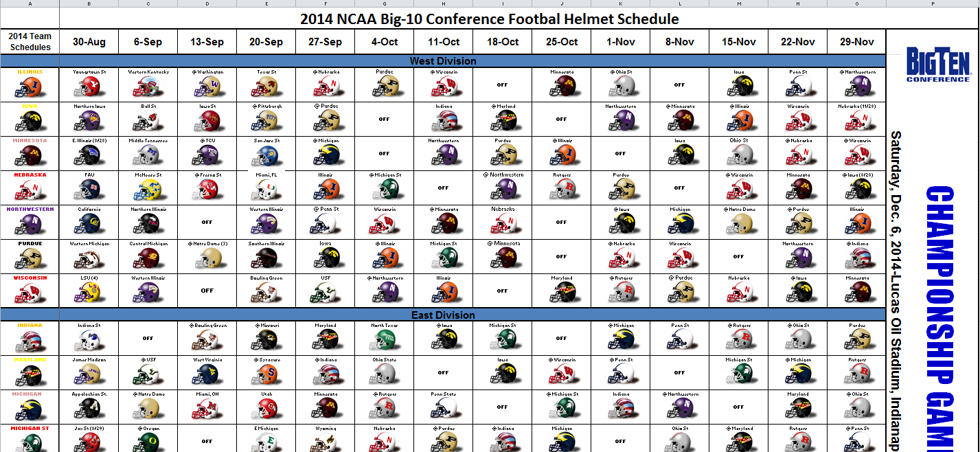 ncaa foitball football schedule 2014