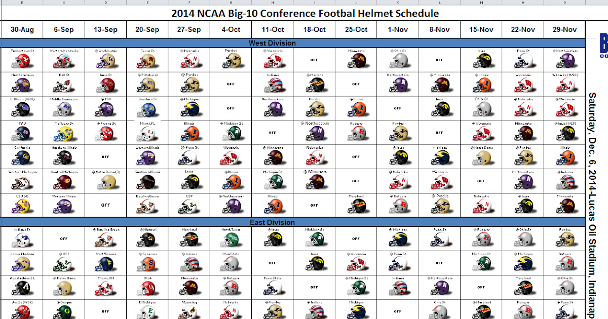 fotb college football helmet schedule
