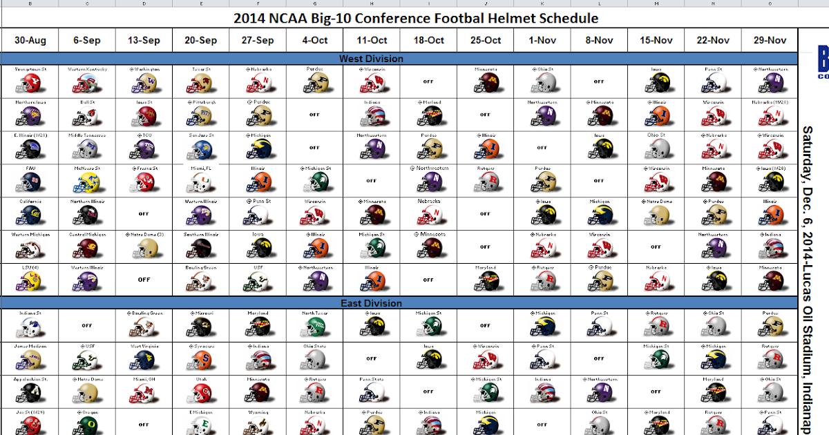 excel spreadsheets help  ncaa 2014 college football helmet
