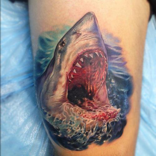 tatto scary shark tattoos. Black Bedroom Furniture Sets. Home Design Ideas