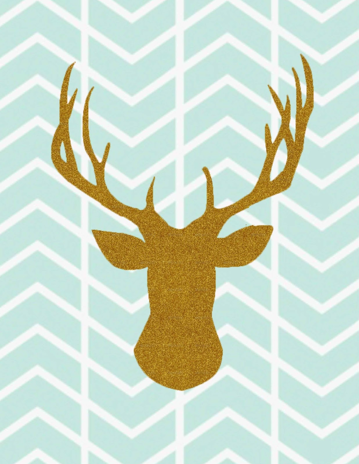 This is an image of Accomplished Printable Deer Head Silhouette
