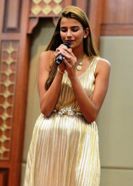 Miss Israel Shani Hazan wowed the judges with her singing