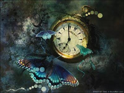 dia del escritor+ reloj+mariposa