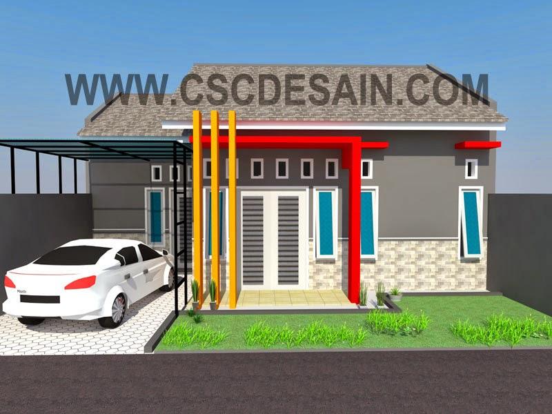 gambar 3D rumah type 45 - 60