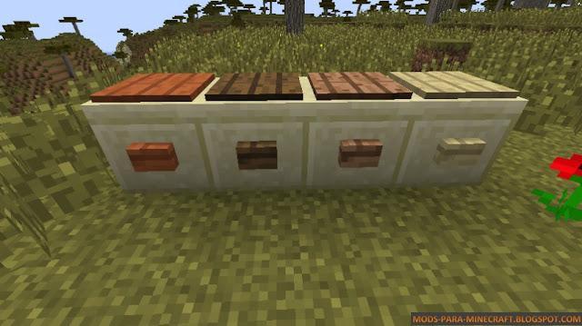 Botones de madera del WoodStuff Mod