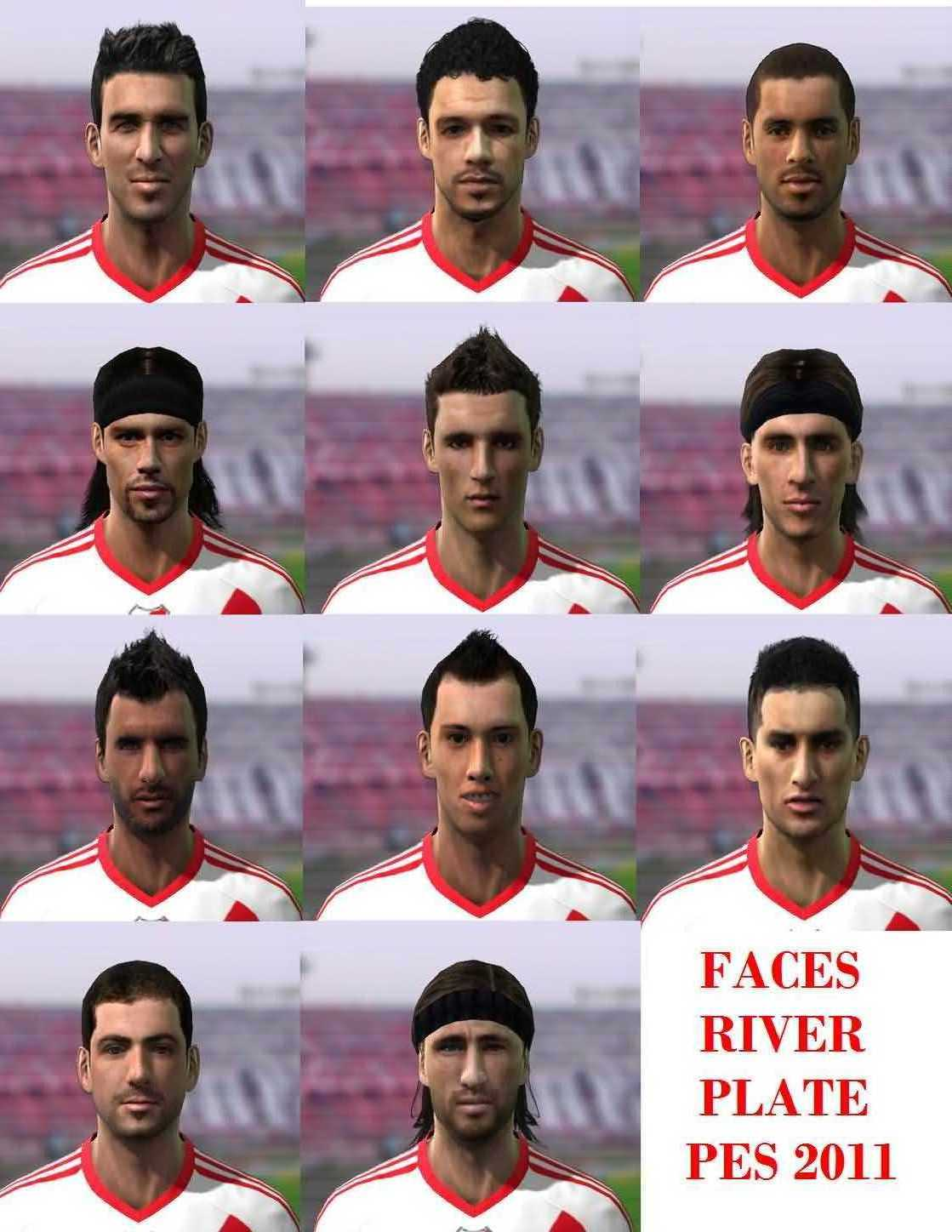 Faces de River para PES 2011 by: Crihh y Fede14