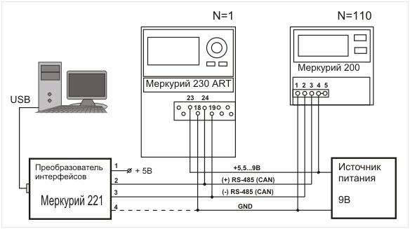 Рис. 5 Схема подключения с