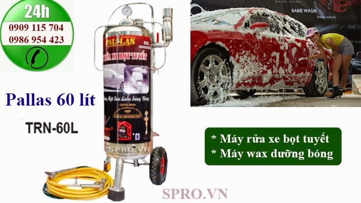 máy rửa xe bọt tuyết pallas 60 lit
