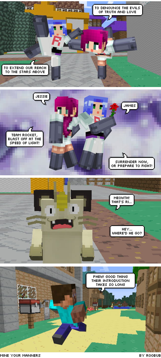 Minecraft Webcomic with Pokemon