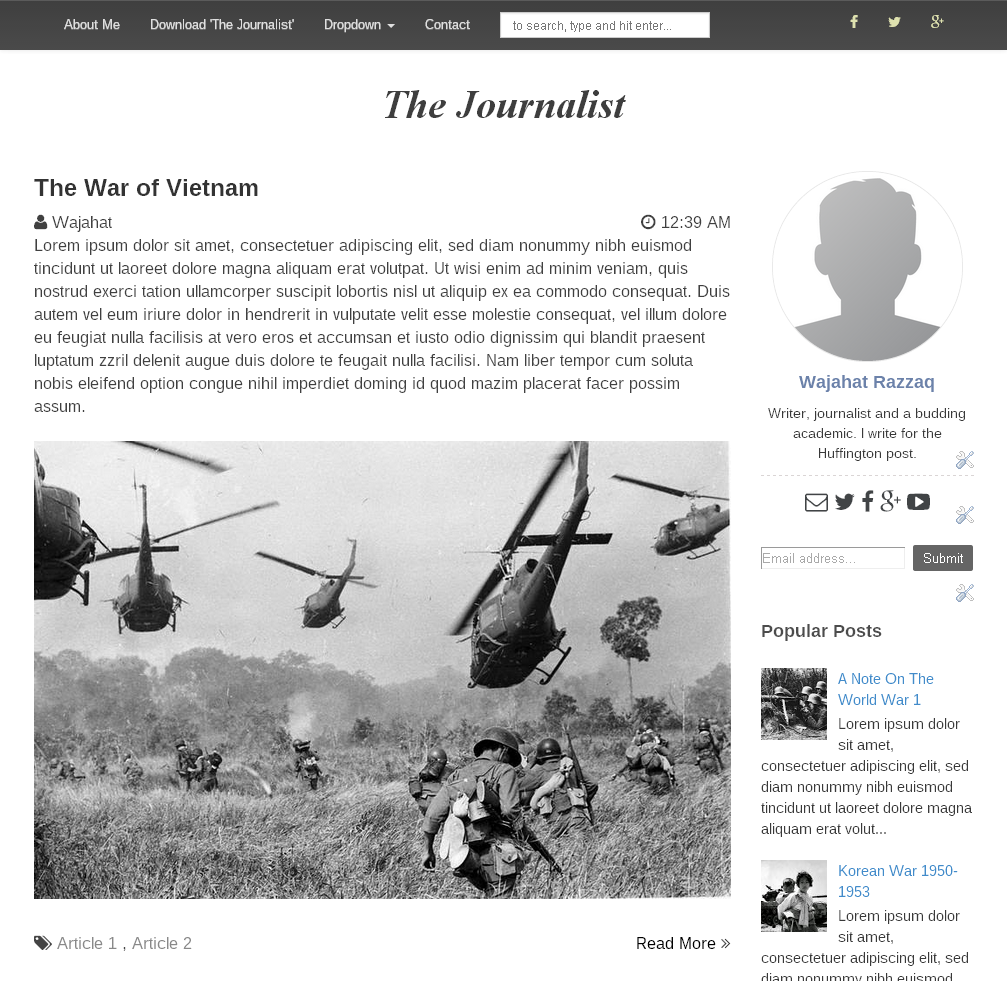 The Journalist A Simple Responsive Template For Blogger