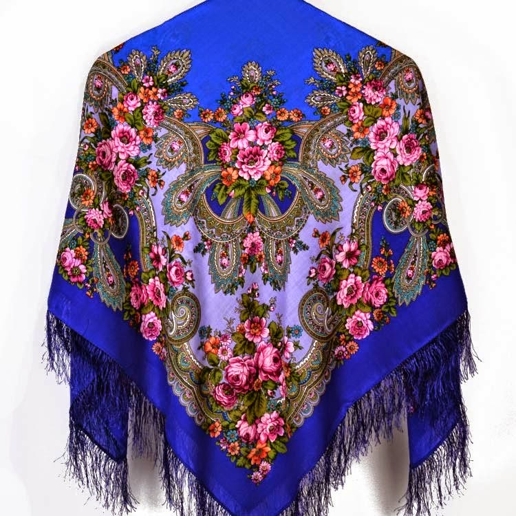 Russian Wool Shawl from Pavlovo Factory in Russia