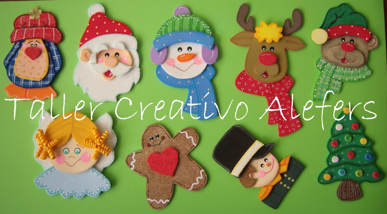 Figuras navideñas para decorar el arbolito, imanes
