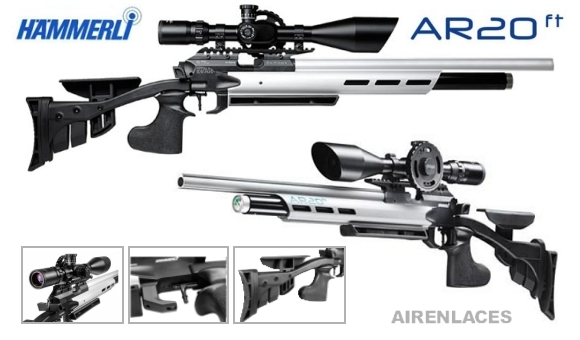 Hammerli AR20 FT air rifle, Hammerli AR20 rifle de aire para FT, Hammerli AR20 air rifle for Field Target
