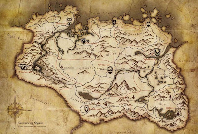 mappa skyrim